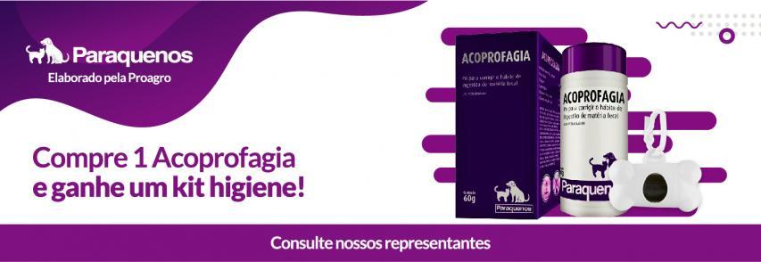 A linha Paraquenos da Proagro e a Agrolife dão para você um kit de higiene com a compra de 1 Acoprofagia!